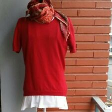 Jersey rojo de lana, talla 44 pequeña