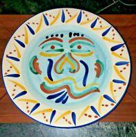 "VTG T Vazquez Talavera Mexico Mexican Pottery - FACE PLATE 12 1/2"""