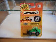 Matchbox Ford Fork Lift Truck in Green on Blister