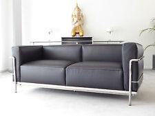 Cassina Le Corbusier LC 3, 2-Sitzer, LCX-Leder schwarz, Top, inkl.19% MwSt.!