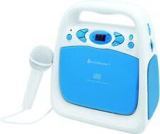 Soundmaster KCD50BL CD und USB-Spieler mit Sing-a-long Funktion und UKW Radio