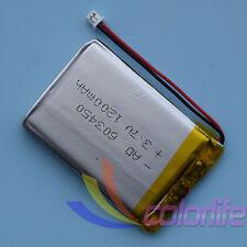 3.7V 1200mAh 603450 Li Polymer Li-Po Rechargeable Battery XH 2P1.0 Connector GPS