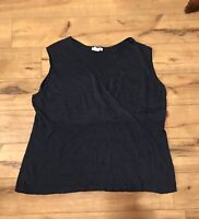 JG HOOK Women's Navy Blue Sleeveless Tank Top Size 1X ~ *WOW*