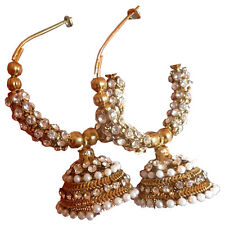 Earrings South Indian Bollywood Fashion CZ 6cm Long Unique Long-Lasting Set