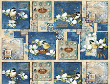 Feather Your Nest Cotton Panel Bird Fabric Wilmington Nature Bfab