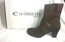 LA CANADIENNE New KAI 'CHOCOLAT NUBUCK' Brown $295 Leather Boot Womens Shoes 9.5