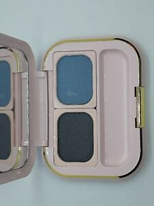 Vintage Mary Kay Pink Palette compact, black onyx & teal eye shadow New
