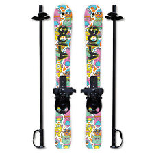 SOLA Kid's Snow Skis & Poles Winter Sports  Beginner W/ Bindings Age2-4 (Gaggle)