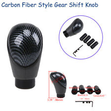 Carbon Fiber Style Manual Gear Shift Knob Shifter Handle For VW BMW Ford Chey