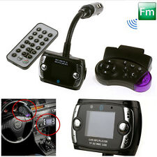 Wireless Car Kit Bluetooth MP3 Player SD MMC USB Remote FM Transmitter Modulator