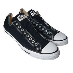 Converse Chuck Taylor All Star OX Slip Sneakers Black White Black 12 Mint