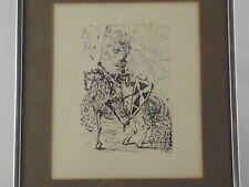 "SALVADOR DALI Original Etching Signed El Cid Spanish Framed Art w COA 11"" x 14"""