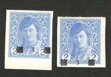 BOSNIA -SHS YUGOSLAVIA-2 MNH/MH NEWSPAPER STAMPS, 3/2-ERROR-MOVED OVERPRINT-1918