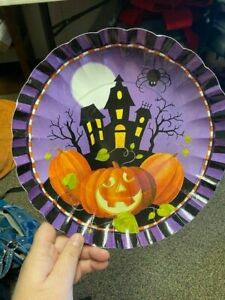 Halloween Haunting 11 Inch Paper Tray Halloween Party Decorations New!!!