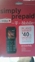 T-Mobile Prepaid - Kyocera Rally Cell Phone - Black Model S1370 New,unopened Box