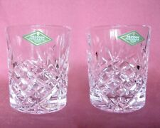 Pair of Shannon /Godinger Cut Crystal Dublin Double Old Fashioned Glass Tumblers
