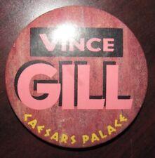 Vintage Vince Gill Caesars Palace Concert Pinback Button