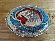 Vintage Eagle Belt Buckle Native American Western Cowboy Excellent Condition