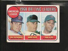1969 Topps # 1 AL Batting Leaders