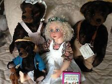 American Artist Goldilocks & 3 Bears Handcrafted Set by Donna Hodges # 3/24