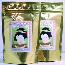 Green Tea Matcha Latte Powder (Matcha Latte Mix) 1 LB (8oz x 2 bags)