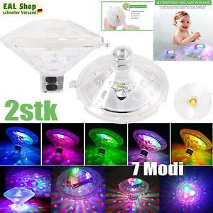 2x Unterwasser Licht Poolbeleuchtung Led Licht Wasserdichte Multifarbige 7 Modi