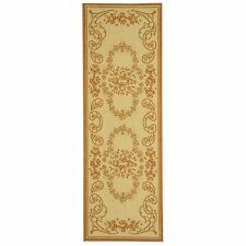 Indoor/Outdoor Floral Natural/Terracotta Rug 2' 3 x 6' 7'' Runner