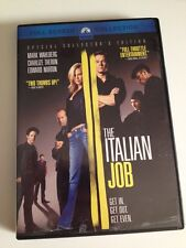 ☀️ The Italian Job DVD Mark Wahlberg Ed Norton Charlize Theron French Audio R1