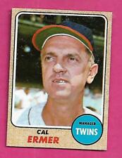 1968 TOPPS # 206 TWINS CAL ERMER  MANAGER  NRMT-MT  CARD (INV# A9343)