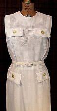 1959 DRESS WIGGLE FIT PENCIL SKIRT SHEER WHITE NYLON MESH WESTOVER NY TALL SM