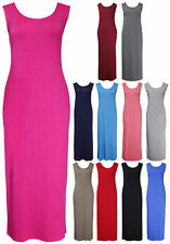 Jersey Scoop Neck Sleeveless Maxi Dresses for Women