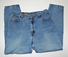 Levi 550 Sz 14 Misses (measures 32x28) Jeans Relaxed Fit Tapered Leg Fade Fray