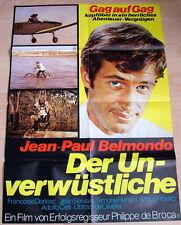 Jean Paul Belmondo DER UNVERWÜSTLICHE original Kino Plakat A1