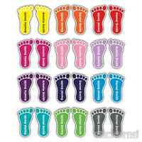 8 PAIRS COLOUR PERSONALISED FOOT FEET SHOE NAME LABELS SCHOOL SHOES FOOTWEAR