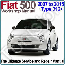 Fiat 500 (Type 312) 2007 To 2015 atelier, Service and Repair Manual on CD