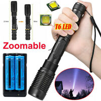 Rechargeable 900000Lumens Tactical Police LED Flashlight Hiking T6 Torch Light