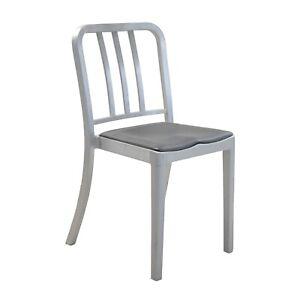 Emeco Navy Chair Aluminium mit Seat Pad blauschwarz Philippe Starck Stuhl