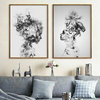 1-2pcs Modern Woman Painting Print Home Abstract Wall Picture Decor Unframed