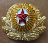 RUSSIAN   SOVIET CCCP   ARMY RED STAR   PIN BADGE HAT  COCKADE OFFICER