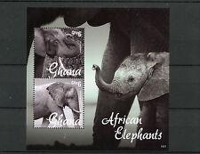 Ghana 2014 MNH African Elephants 2v S/S II Fauna Wild Animals