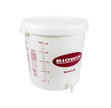 30 LITRE FERMENTATION BUCKET VESSEL WITH TAP + AIRLOCK HOME BREW BEER WINE CIDER