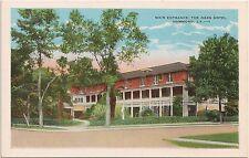 Main Entrance to Oaks Hotel in Hammond LA Postcard