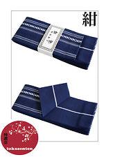 KIMONO YUKATA OBI Ceinture Japonais KAKU Traditional Belt NEW NEUF BLUE BLEU