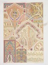 ART DECO INDE RACINET LITHOGRAPHIE Decoratif Decor Indien Motifs Polychrome 1870