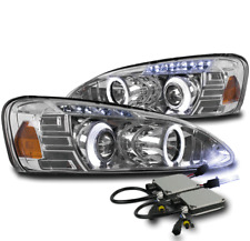 2004-2008 PONTIAC GRAND PRIX HALO LED CHROME PROJECTOR HEADLIGHT LAMP+10000K HID