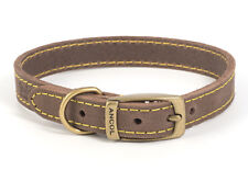 More details for ancol leather timberwolf sable dog/puppy collar