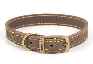 Ancol Leather Timberwolf Sable Dog/Puppy Collar