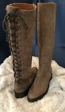 Napoleoni Boots Size 36 Italy Lace Up Brown Leather US 5.5