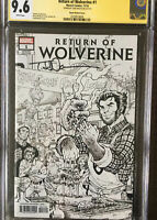 Return of Wolverine # 1  CGC SS 9.6 Signed By Todd Nauck Sketch Party Variant