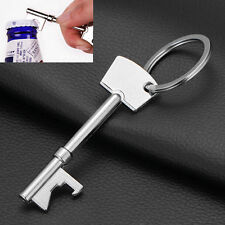 Key Shaped Bottle Opener HU Ring Keyring CA Keychain Metal Beer Fobs Bar Tool